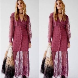 Nightcap Clothing x Free People Siena Lace Gown XS